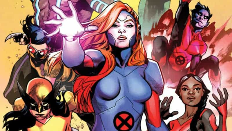 Cover of X-Men Red #1 from Marvel written by Tom Taylor with Art by Mahmud Asrar.