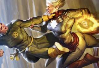 Captain Marvel and Rogue